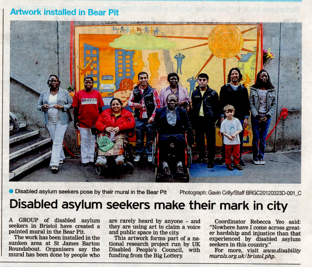 Article titled 'Disabled asylum seekers make their mark in city'